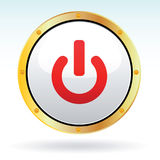 Button. Vector illustration of an on off button Royalty Free Stock Images