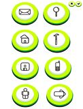 Button. This is a buuton non outlines royalty free illustration