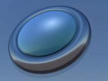 Button. Simple button in blue execution with the speck of light stock illustration