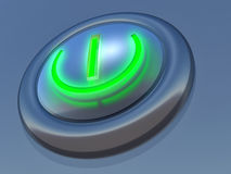 Button. Simple button in blue execution with the speck of light Royalty Free Stock Photos