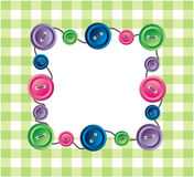 Button. The Beautiful frame in hutch with button. The Vector illustration Stock Photos