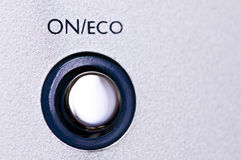 On button. Macro on the on button Royalty Free Stock Photo