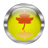 Button. Ecology web push button icon vector illustration