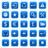 button 2 ikon sieci Obraz Stock