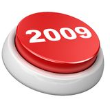 Button 2009. 3d image of button 2009. White background Royalty Free Illustration