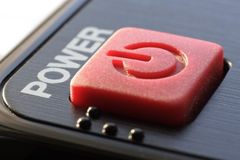 Button. Power Button of remote control Stock Image