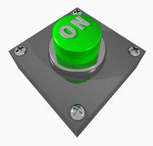 Button_ON Imagem de Stock Royalty Free