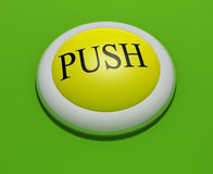 Button #3. #3 - a 3d rendered button with embossed text (could be replaced). Part of a series royalty free illustration