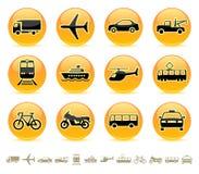 button 3 ikon transportu Obrazy Royalty Free