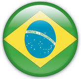 Button. With map from Brazil - Vector Stock Photo