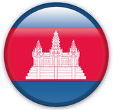 Button. With map from Cambodia - Vector Royalty Free Stock Image