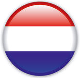 Button. With map from Netherlands - Vector Royalty Free Stock Photos