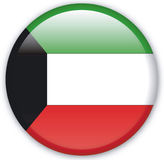 Button. With map from Kuwait - Vector Royalty Free Stock Photo