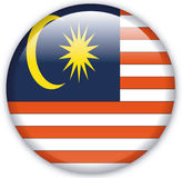 Button. With map from Malaysia - Vector Stock Image