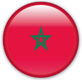 Button. With map from Morocco - Vector Stock Image