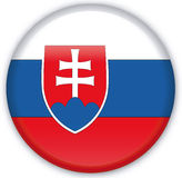 Button. With map from Slovakia - Vector Royalty Free Stock Images