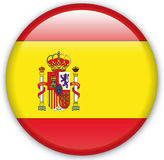 Button. With map from Spain - Vector Royalty Free Stock Photo