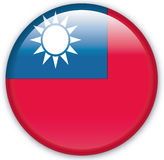 Button. With map from Taiwan - Vector Stock Photo