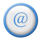 @ button. Blue and white button, part of 36 button collection. Also available in red or grayscale Royalty Free Stock Photo