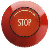 Button. A red 'stop' button on white Stock Photos