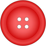 Button. Small bright circle red button Stock Photography