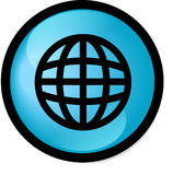 Button. World wide web button round version Royalty Free Stock Photo