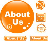 Button About Us Colored Glossy Icon Royalty Free Stock Photo
