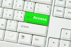 Button Access Stock Image