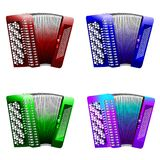 Button_accordion_set Royalty Free Stock Image