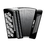 Button accordion monochrome Royalty Free Stock Image