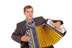 Button accordion player Royalty Free Stock Photography