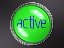 Button active Royalty Free Stock Photos