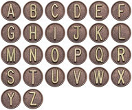 Button alphabet Stock Photography