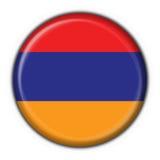 button armenian flagi kształcie gwiazdy Zdjęcie Stock