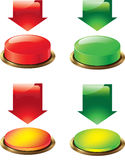 Button and arrow Royalty Free Stock Images