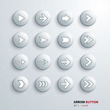 Button arrow sign icon set Stock Photography