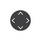 Button with arrows in four direction icon vector, solid logo ill Stock Photo