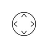 Button with arrows in four direction line icon, outline vector l Stock Images