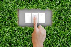 button att trycka på strömbrytaren Royaltyfria Bilder
