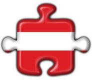 button austriacki flagi kształt zagadki Obrazy Royalty Free