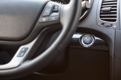 Button of automatic start and stop engine car Royalty Free Stock Images