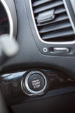 Button automatically start engine car Stock Photography