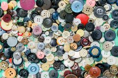 Button background still life, sewing, crafts, colours, fashion stock image