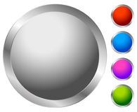 Button, badge element in several color. Blank button backgorund. Royalty free vector illustration stock illustration