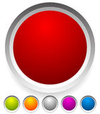 Button, badge shapes / backgrounds in several colors Royalty Free Stock Image
