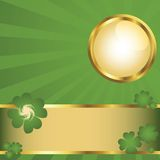 Button and banner. For St.Patrick's Day Royalty Free Stock Photo