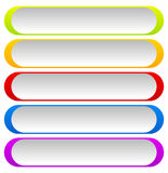 Button or banner backgrounds, tags, labels in 5 color Stock Photos