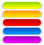 Button or banner backgrounds, tags, labels in 5 color Stock Images