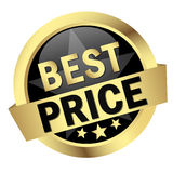 Button with banner BEST PRICE Stock Photography