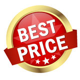 Button with banner BEST PRICE Stock Photo